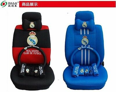 Groovy Best Gift Onsale Real Madrid Car Seat Covers Accessories Set 18Pcs 2 Colors Ebay Beatyapartments Chair Design Images Beatyapartmentscom