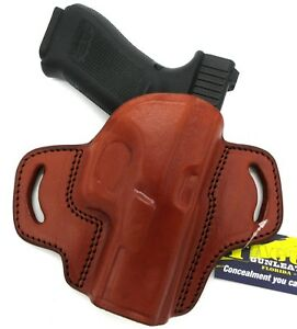 Details about TAGUA RH OWB Open Top Brown Leather Belt Holster for GLOCK 19  19X 23 32