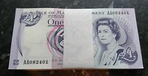 Un-MI-Pound-Nota-Banca-Isola-di-Man-shimmin-2009-FRO-consecutivi-Bundle-Crisp-UNC