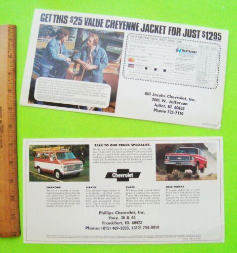 TWO 1974 /& 1976 CHEVROLET TRUCK COLOR FOLDER MAILER BROCHURES Pick-Ups EL CAMINO