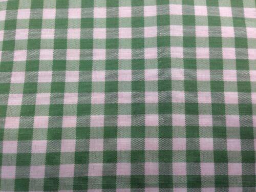 8 mm coupon de tissu polycoton  carreaux vichy vert 3.00 m ; Ref  M