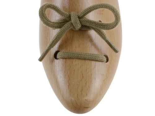 Lacci per scarpe e scarponi rotondi in cotone marrone chiaro da 120 cm