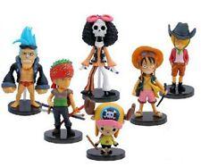 Cute ! Set of 6pcs Ocean One Piece 7cm-9cm Luffy/Zoro Mini Figure _CHUYU