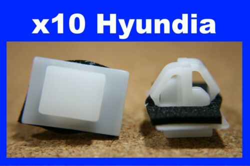 Pour HYUNDAI 10 Wing Panel Sill Wheel Arch Flare Capot Moulure Fastener Clips