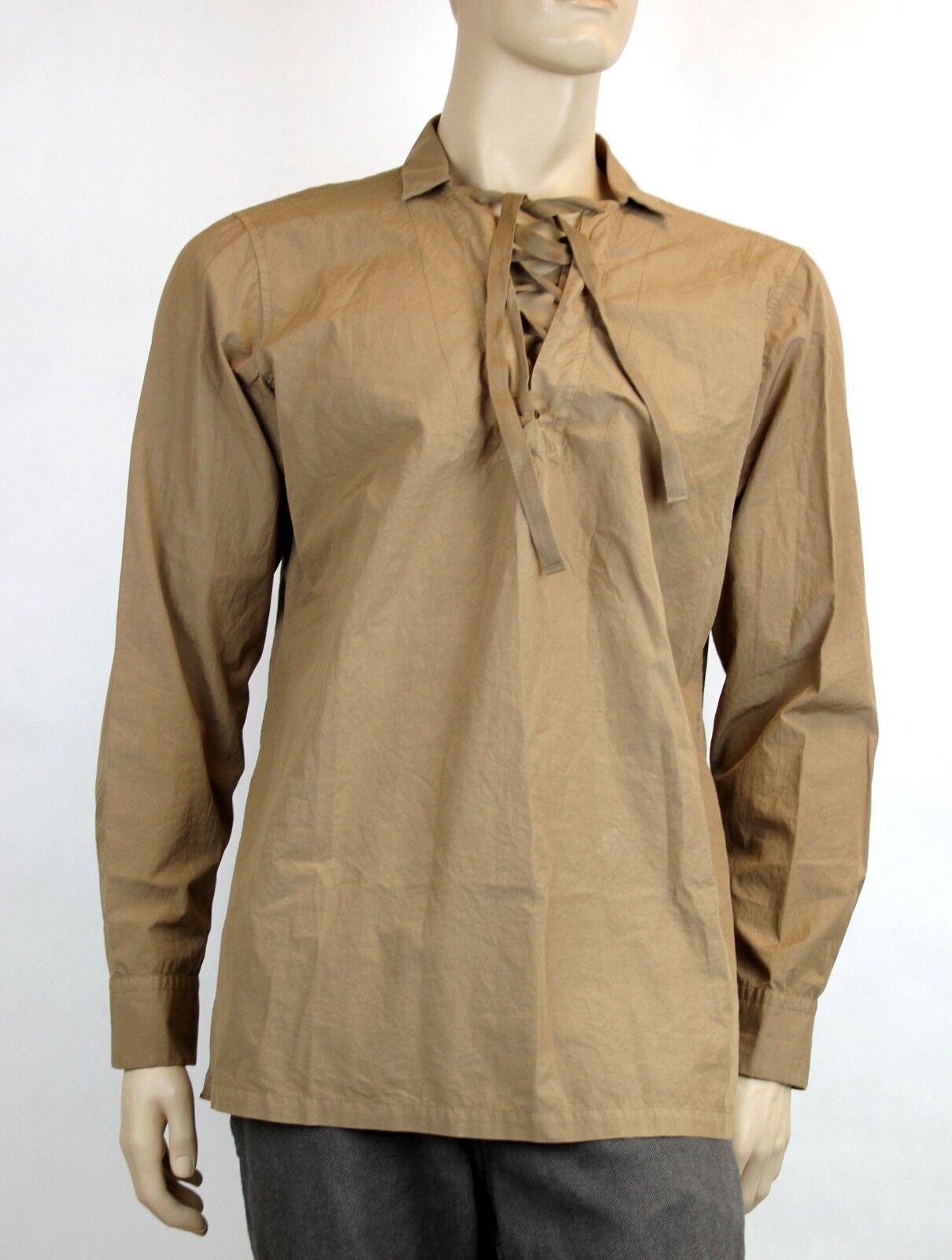 820 New Authentic Bottega Veneta  Herren Lace-up Shirt Top IT 50/US 40, 310971