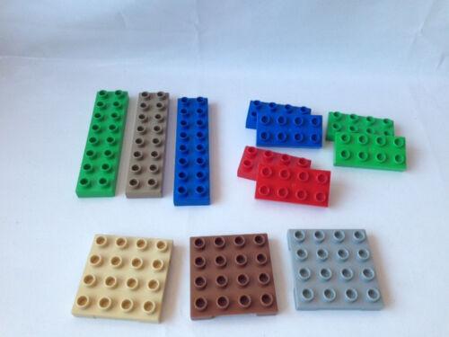 Colours 8 x 16-8 x 8-6 x 12-4 x 8-Various Sizes Lego Duplo Building Boards