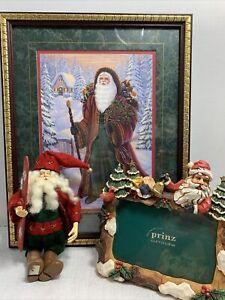 Home-Interiors-Santa-Claus-Victorian-St-Nicholas-Framed-Christmas-Art-12-x15
