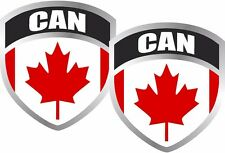 "Canada Flag Shield Decal SET 2.5""x3"" Badge Canadian Vinyl Window Sticker"