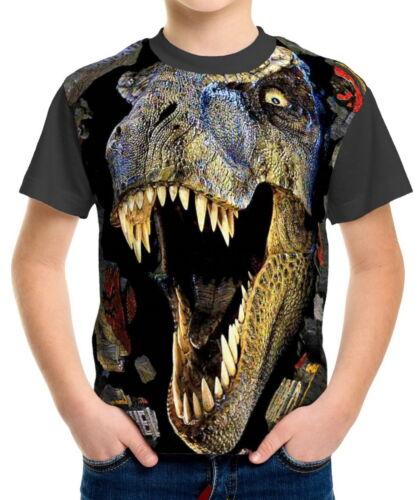 T-Rex Boys Kid Youth T-Shirts Tee Age 3-13 ael40180