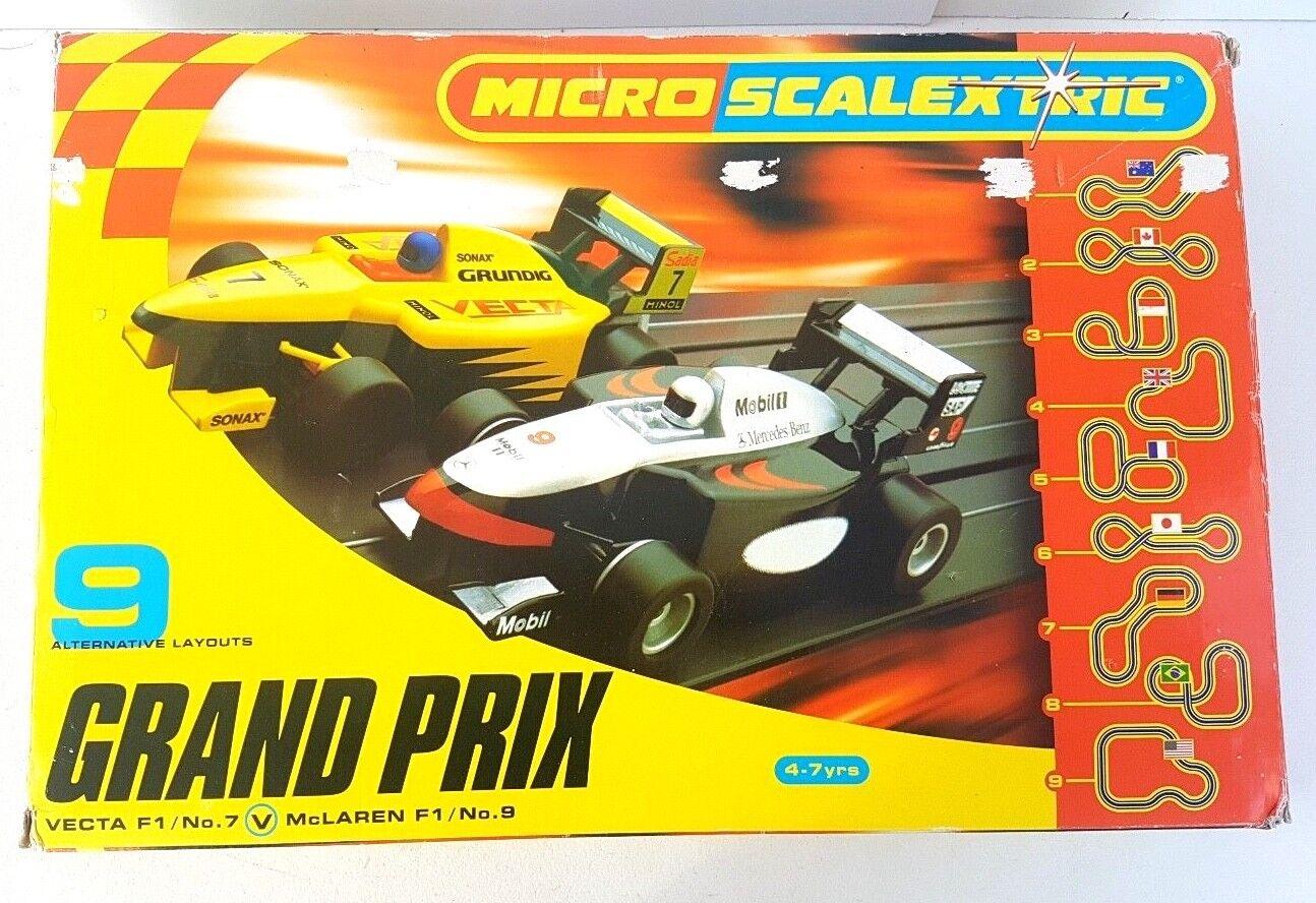 Micro Scalextric Set Grand Prix Vecta F1 Vs McLaren F1 9 Layouts