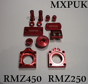 627 CRF450 2017 BLING KIT MXPUK RED ANODIZED BLING KIT ALLOY PARTS PACK CR450F