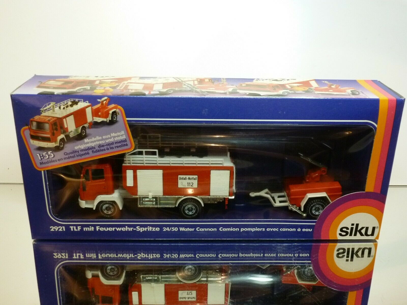 SIKU 2921 MERCEDES BENZ + WATER CANNON - FIRE ENGINE rouge 1 55 - VERY GOOD IN BOX