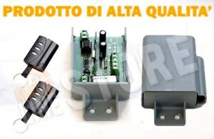 KIT-RECEPTOR-receptor-CANAL-DOBLE-PUERTA-AUTOMATICA-12-24V-433Mhz-2-TELC