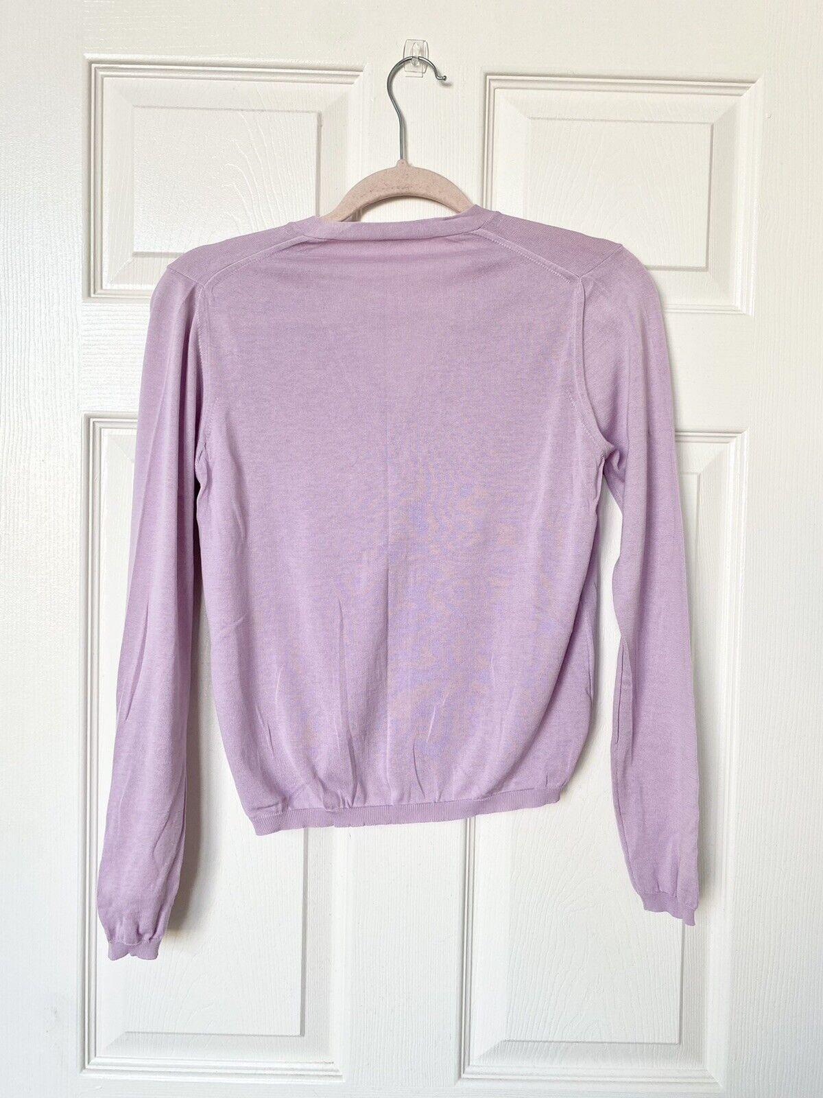 Malo Lilac Lightweight Cardigan Size 42 IT / US 6 - image 3