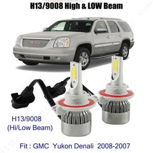 5202 Fog Bulb 8000K H13 LED Headlight For GMC Yukon XL 1500 2500 07-14 High Low