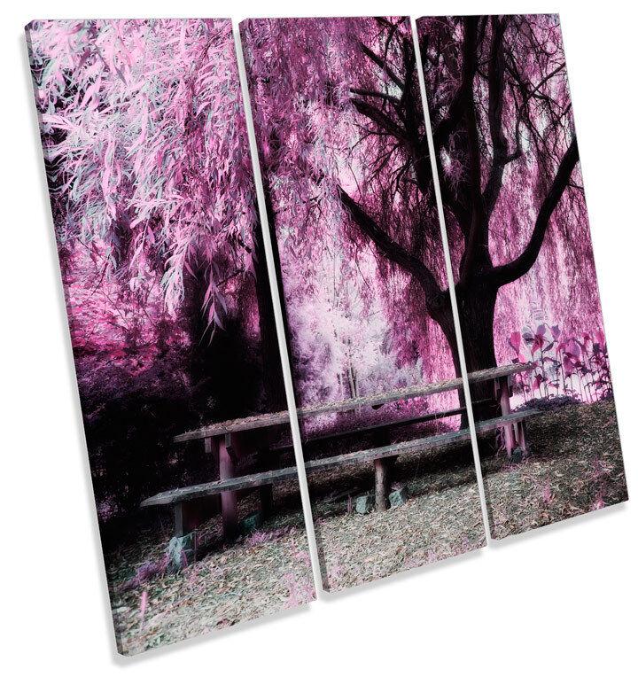 Blossom Floreale PAESAGGIO TREBLE TREBLE TREBLE TELA Wall Art Quadrato foto stampa 505b7b