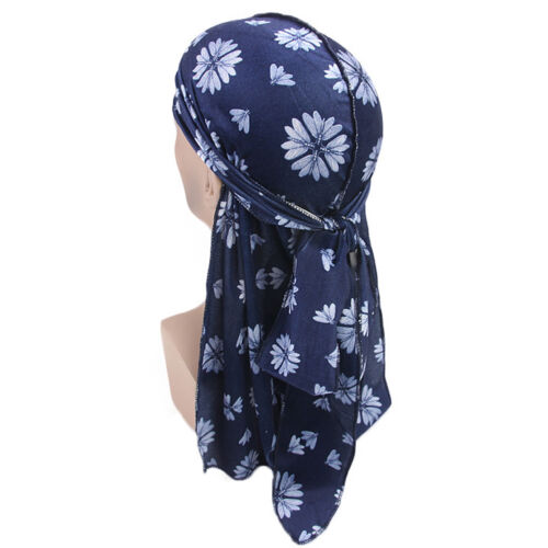 Men Women Silk Durags Bandana Turban Hat Doo Durag Headwear Headband Pirate Cap