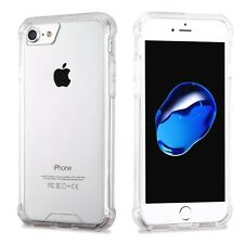 HYBRID CLEAR TPU FLEXIBLE HARD CASE for IPHONE 7 Plus drop protection USA SELLER