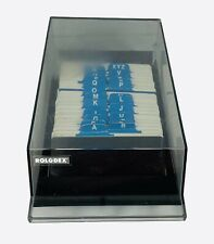 Vintage Rolodex Vip 24c Business Card File With Cards Alphabetical Desk Organize