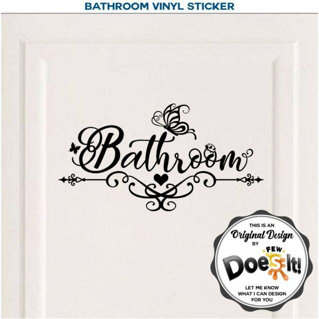 BATHROOM DOOR  wall stickers vinyl Decals Decoration sign art