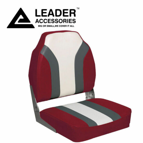 Hight-back Rainbow Boat Seat Red Charcoal White