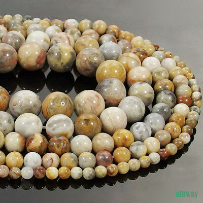 6 mm Gemstone beads 20 Pretty Round Crazy Lace Agate Red
