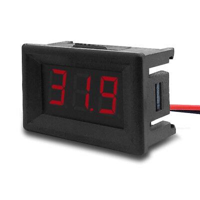 """DC 2.4V-30V 2Wires Voltmeter Mini 0.36/"""" Digital Voltage Gauge Meter for Auto Car"""