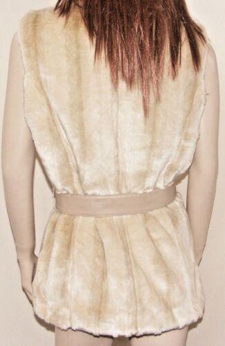 Kristen Blake Donna In Finta Pelliccia Gilet Coniglio Osso a colori 3 Taglie fantastico nuovo con etichetta