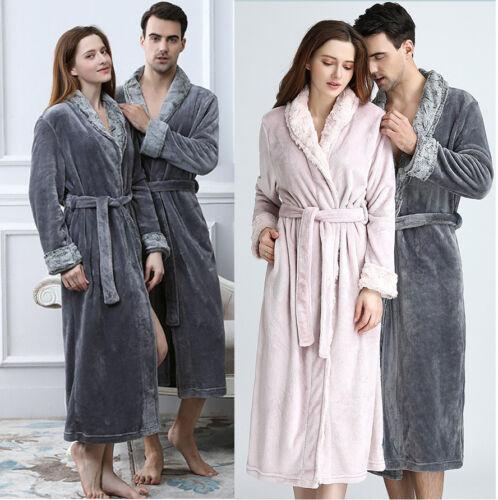 Uomo Pigiama Accogliente Luxury da Fleece Donna Accappatoio Sleepwear Abbigliamento Flanella Robe notte CCqpvrw