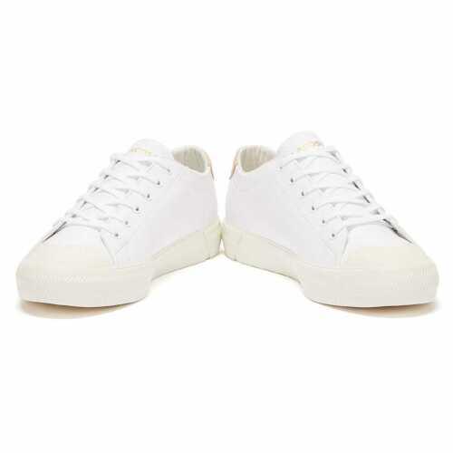 Lacoste gripshot 120 2 Femme Blanc Rose Baskets En Cuir Designer Fashion Chaussures