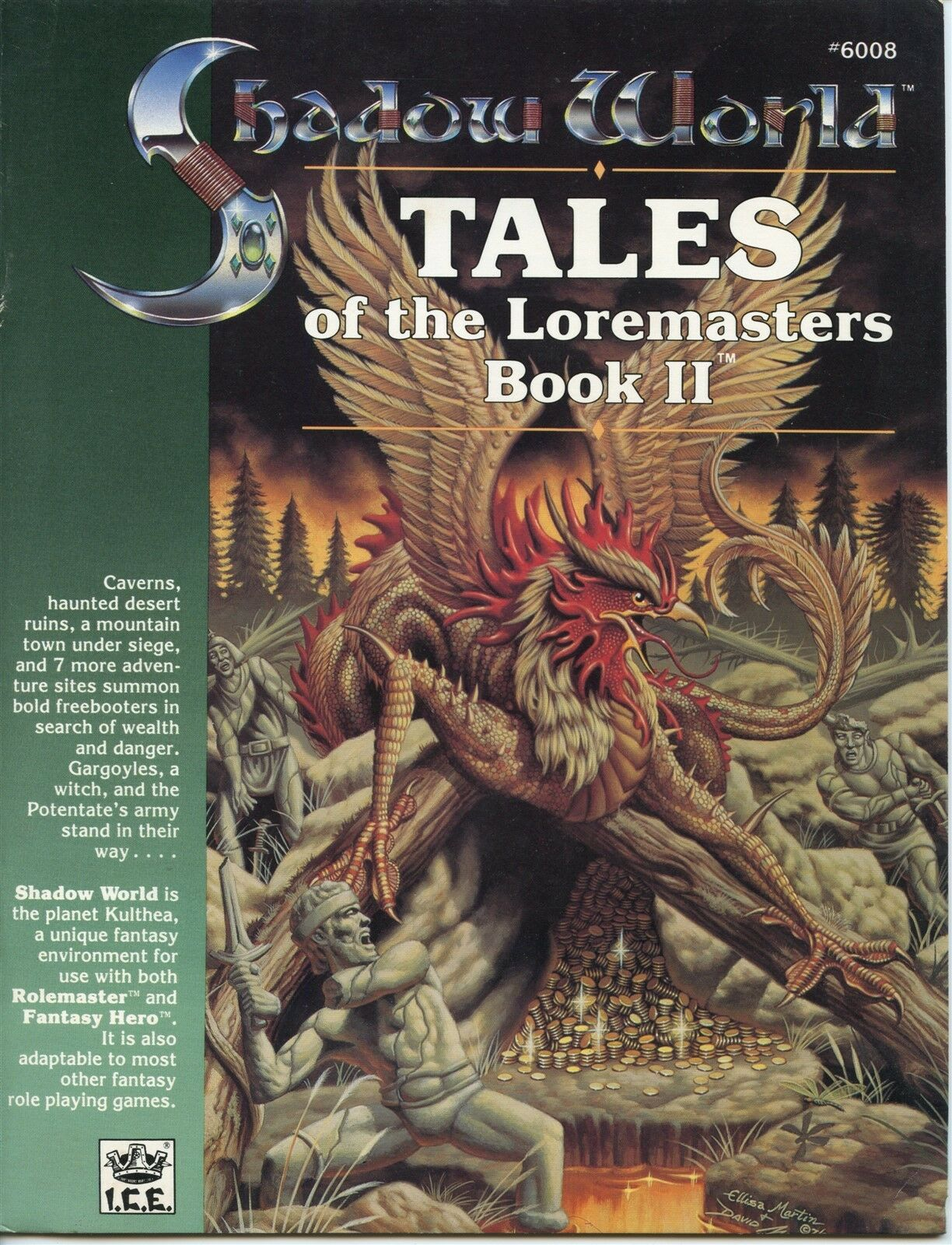 SHADOW WORLD TALES OF THE LOREMASTERS BOOK 2 ICE 1989 1ST PRINT VF
