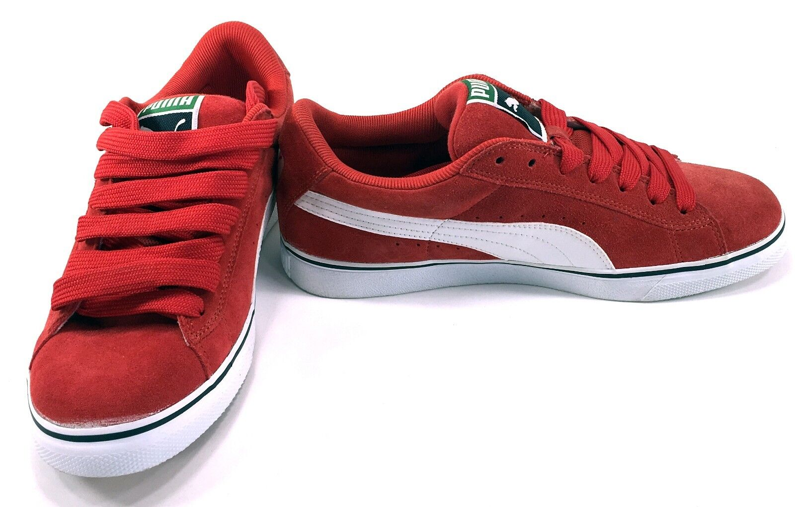 Puma Shoes Suede Classic Vulcan High Risk Red/White Sneakers Comfortable Casual wild