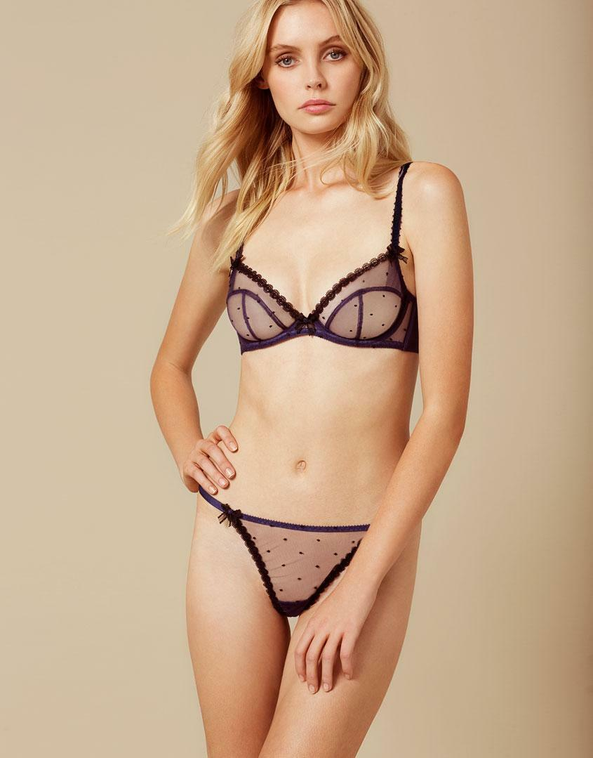 AGENT PROVOCATEUR POPPIE BRA AND THONG SET SIZE 32B SMALL   AP2   8-10 BNWT