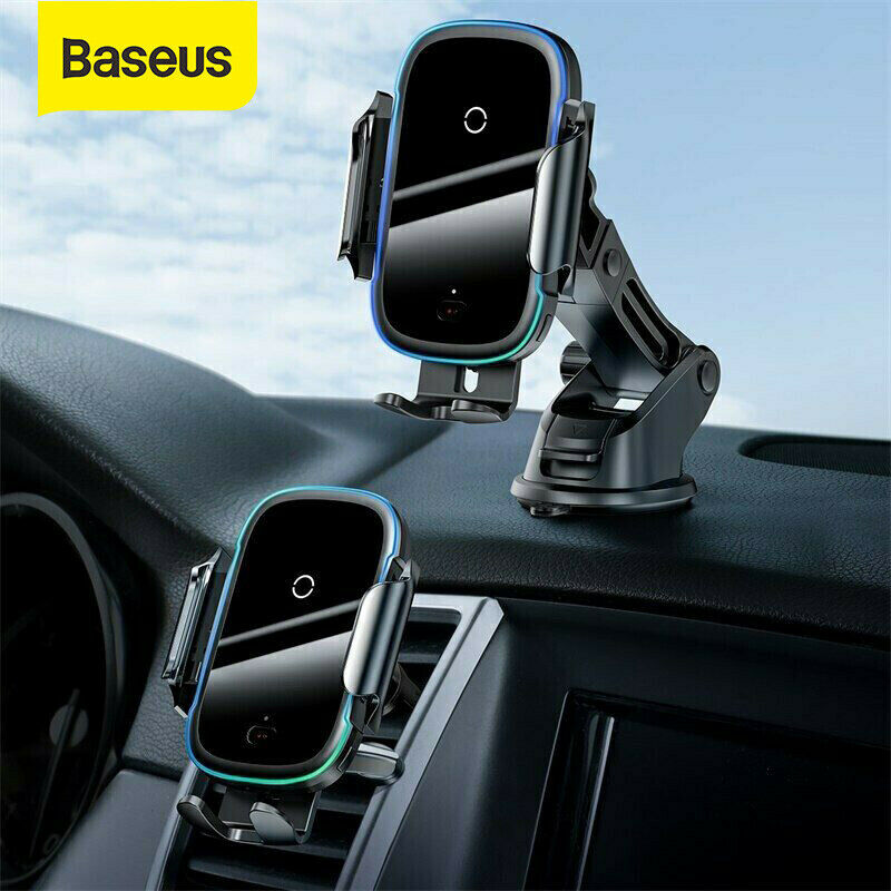 Details about Baseus 15W Quick Charge Light Electric Holder Wireless Charger for iPhone