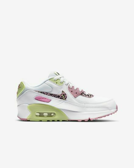 Nike Air Max 90 GS White/pink Rise Da4675 100 US Size 7y for sale ...