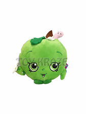 "SHOPKINS PLUSH! APPLE BLOSSOM GREEN SMALL SOFT DOLL STUFFED FRUIT TOY 6"" NWT"
