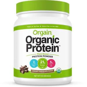 Orgain Organic Plant Based Protein Powder, Creamy Chocolate Fudge - Vegan, Low