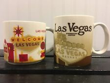Starbucks LAS VEGAS Coffee Tea Mug Cup 2011 And 2014 Set Of Two! Free Shipping!