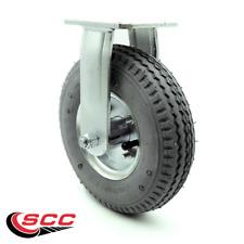 8 Inch Gray Pneumatic Wheel Rigid Caster Service Caster Brand