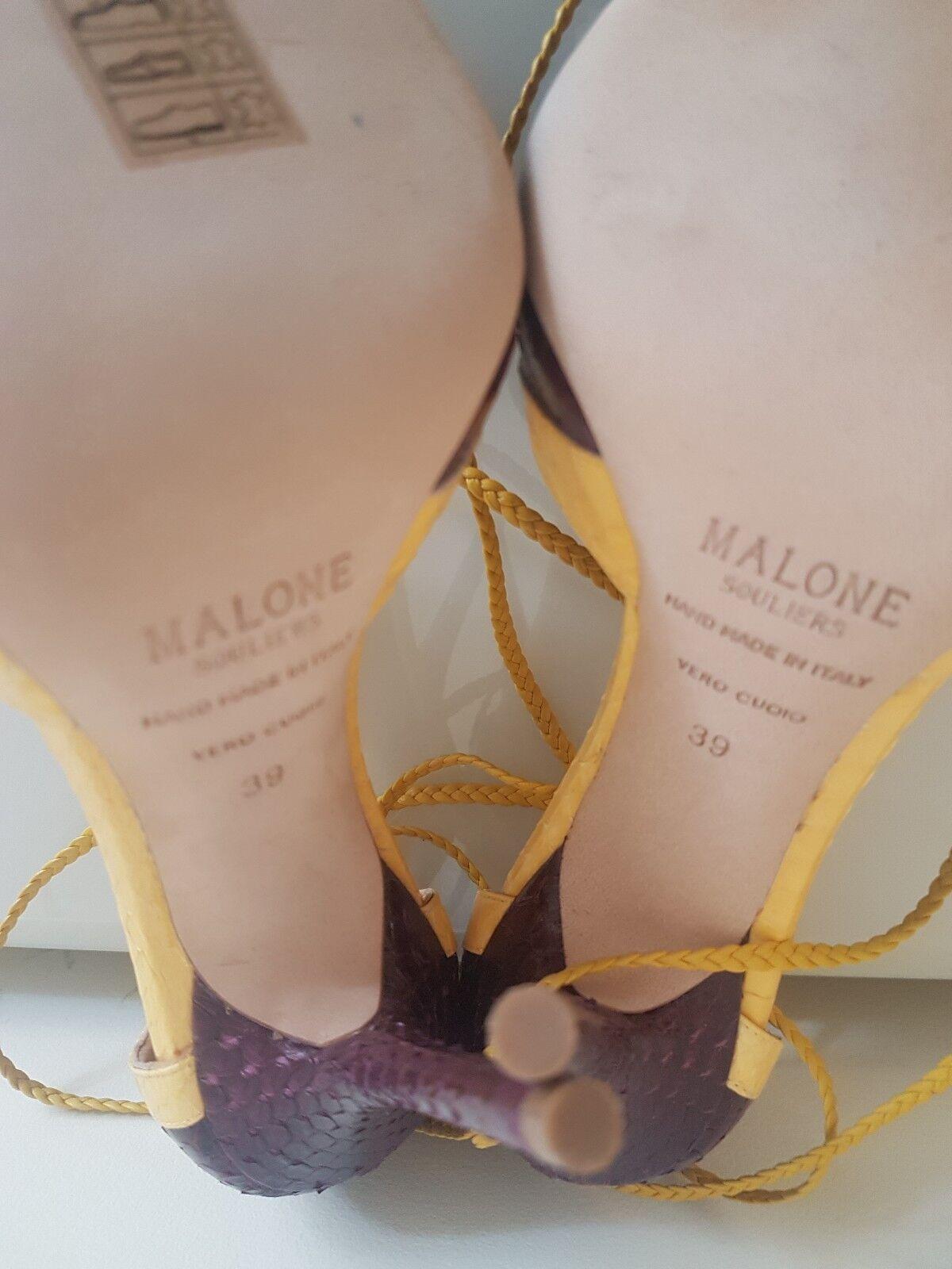 NEW MALONE SOULIERS SOULIERS SOULIERS Haji two-tone watersnake pumps Size UK 6 f9a77d