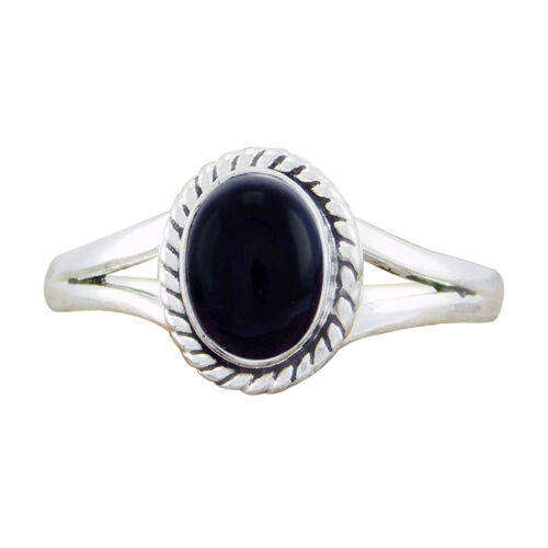 925 Sterling Silver Hot Sell Black Onyx Handmade Design Ring SZ-6 7 8 9