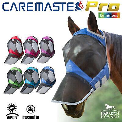 L; Full Size Harrison Howard CareMaster Pro Luminous Fly Mask Full Face Pasture Green