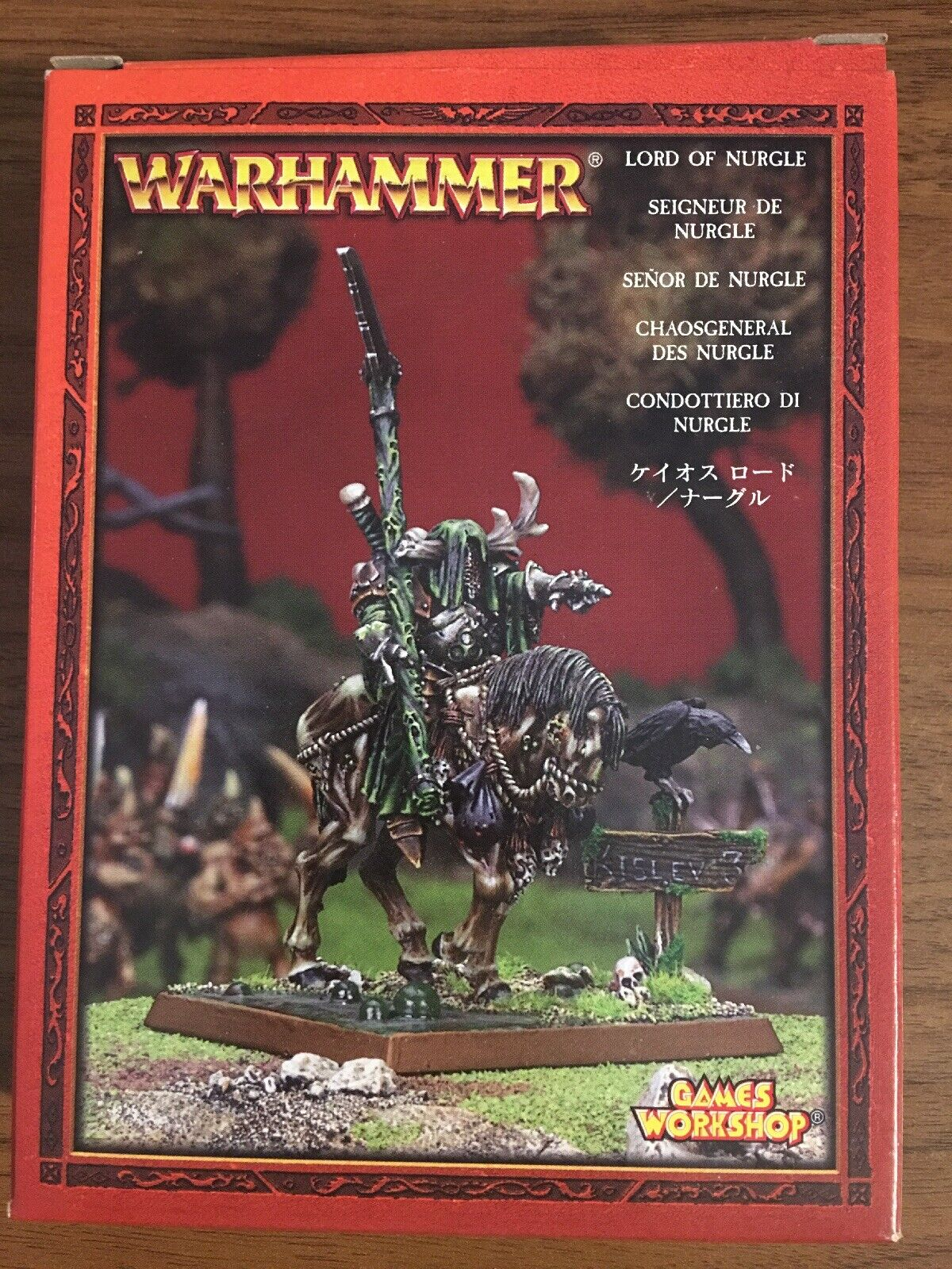 LORD OF NURGLE -  METAL - BOX - CHAOS - WARHAMMER  excellent prix