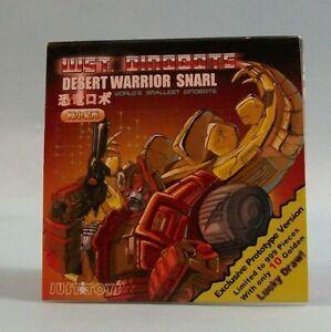 Desert Warrior Snarl Transformers Justitoys 2006 SEALED WST Dinobot G1