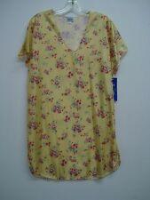 USA Made Nancy King Lingerie Sleepshirt Gown PJ Size Small Yellow Multi #438N