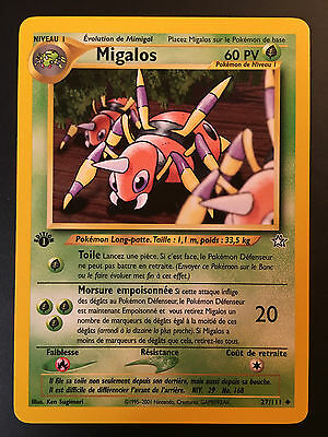 Carte Pokemon MIGALOS 27//111 UNCO Néo Génésis Wizard Française NEUF EDITION 1