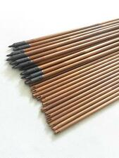 "24pcs self nock archery 33"" bamboo arrow shaft 30-35# hunting point broadhead"