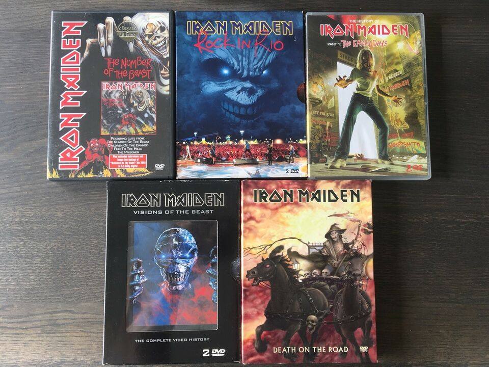 Iron Maiden: Iron Maiden DVD'er, metal