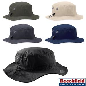 2d645a9da Details about BEECHFIELD CARO BUCKET HAT UPF SUN PROTECTION HOLIDAY SAFARI  SIZE ADJUSTER CAP