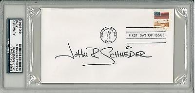 #83398073 psa/dna John Schneider Signed Authentic Slabbed First Day Cover